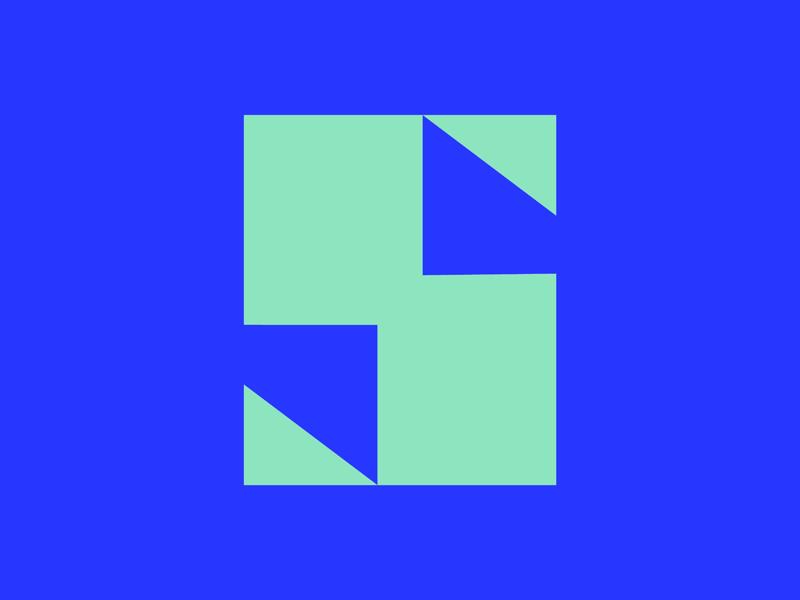 36 Days of Type || S typographic typography typeface minimal logomark logo lettering letter illustration icon geometric font branding brand abstract chunky block 36 days of type 36daysoftype07 36daysoftype