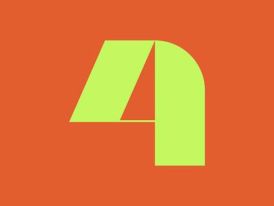 36 Days of Type || 4 design typography typographic typeface minimal logomark logo lettering letter illustration icon geometric font branding brand abstract 36daysoftype07 36 days of type 36dayoftype