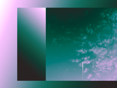Gradient Study study exploration abstract minimal colours design duotone poster synthwave vaporwave sunset clouds moon mixed media media mix collage noise texture gradient
