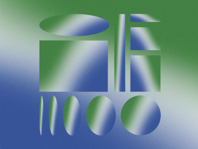 Gradient Study 02 color study texture study soft shapes poster pattern noise gradient exploration duotone design colour color collage blend geometric illustration minimal abstract