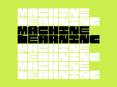 Machine Learning design motion abstract minimal geometric grid lettering poster type neon after effects typographic typography font pixel box learning machines rubiks cube animation