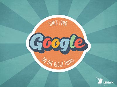 Vintage Google Logo typography challenge design vector branding weeklywarmup vintage google logo