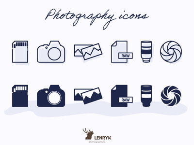 Photography - Icons illustration vector icons photography weeklywarmup design challenge