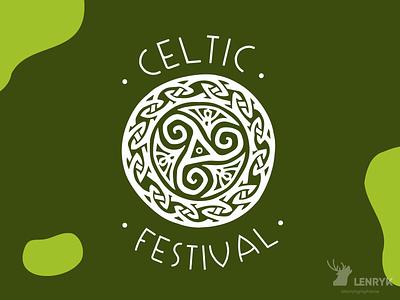 Celtic festival - Logo branding vector illustration logo weeklywarmup challenge