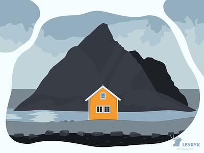 Peaceful - Illustration typography branding logo vector illustration design weeklywarmup challenge