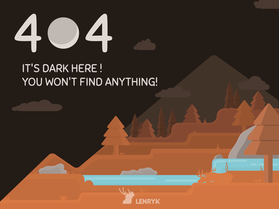 Illustration - 404 Error page illustration design weeklywarmup challenge