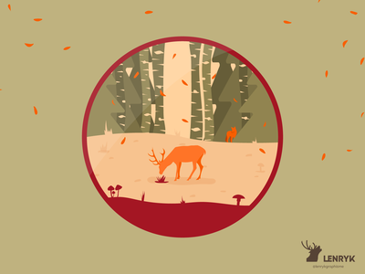 Autumn - Badge badge branding vector logo illustration design weeklywarmup challenge