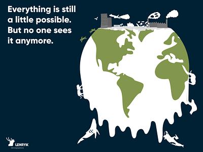 Illustration - Global Warming globalwarming ecology planet typography logo vector illustration design weeklywarmup challenge