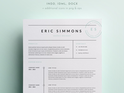 3 Page Resume Template clear modern minimal clean design clean ui job cv resume template resume design resume clean resume free download cv template cv design cover letter clean