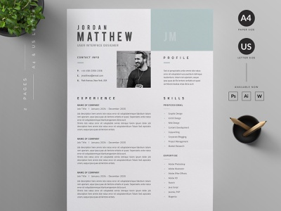 Resume/CV minimal cv resume template cv resume cv job cv resume template resume design resume clean resume free download cv template cv design cover letter clean