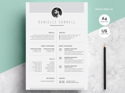 Creative Resume modern minimal cv resume template cv resume cv job cv resume template resume design resume clean resume free download cv template cv design cover letter clean
