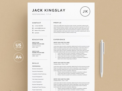 Resume/CV modern minimal cv resume template cv resume cv job cv resume template resume design resume clean resume free download cv template cv design cover letter clean