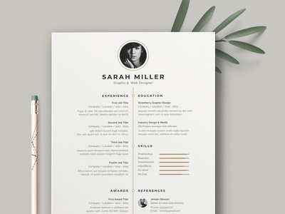 Resume / Cv Template minimal clean resume cv job board job resume clean download cv design cover letter clean simple resume resume template resume design resume professional modern resume free minimal resume cv template