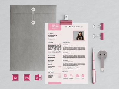 Feminine Resume Sumarni advertising branding lookbook fashion minimalist clean professional modern catalogue catalog magazine template print design printing printable print indesign adobe us lettter a4
