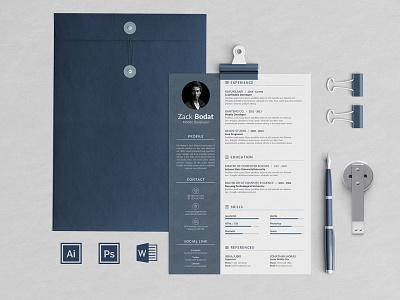 Professional Resume Bodat advertising branding lookbook fashion minimalist clean professional modern catalogue catalog magazine template print design printing printable print indesign adobe us lettter a4