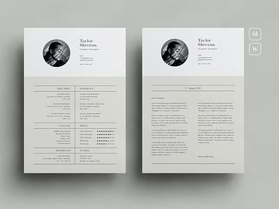Resume resume clean cv design cover letter job cv job minimal modern cv letter clean simple resume resume template resume design resume professional modern resume free minimal resume cv template