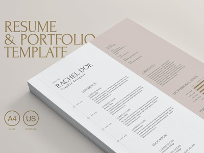 Resume & Portfolio Template advertising branding lookbook fashion minimalist clean professional modern catalogue catalog magazine template print design printing printable print indesign adobe us lettter a4