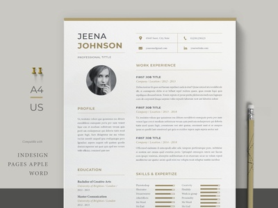 Resume Template resume clean cv design cover letter job cv job minimal modern cv letter clean simple resume resume template resume design resume professional modern resume free minimal resume cv template