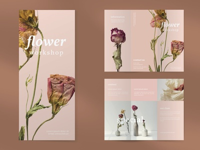 Flower Brochure Template brochure design brochure lookbook fashion minimalist clean professional modern catalogue catalog magazine template print design printing printable print indesign adobe us lettter a4