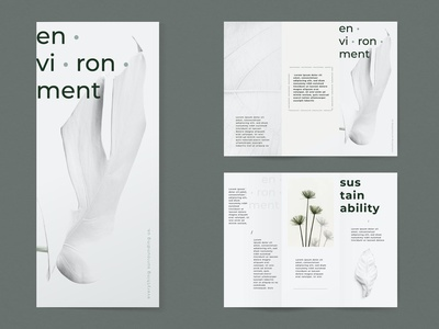 Environmental brochure brochure template brochure lookbook fashion minimalist clean professional modern catalogue catalog magazine template print design printing printable print indesign adobe us lettter a4