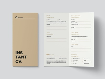 Micro CV/Resume Template branding popular gradient resume gradient minimal clean simple resume job resume elegant resume modern resume minimal resume professional cover letter cv design cv template cv resume design resume template resume