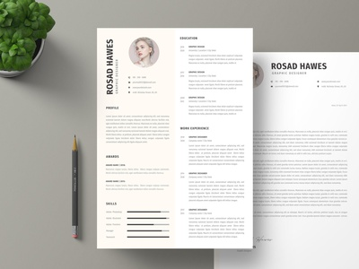 CV & Cover Letter resume clean cv design cover letter job cv job minimal modern cv letter clean simple resume resume template resume design resume professional modern resume free minimal resume cv template