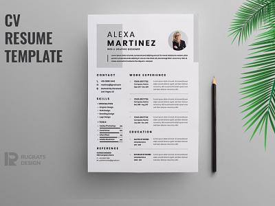 Minimalist CV Resume resume clean cv design cover letter job cv job minimal modern cv letter clean simple resume resume template resume design resume professional modern resume free minimal resume cv template