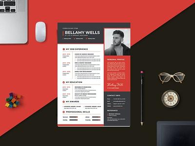 Modern Work CV Resume Template cv resume branding popular gradient resume gradient minimal clean simple resume job resume elegant resume modern resume minimal resume professional cover letter cv design cv template cv resume design resume template resume