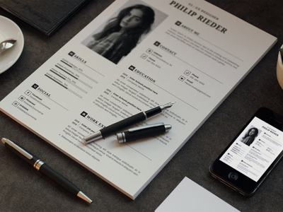 Retro CV Resume & Letter Cover Template cv resume branding popular gradient resume gradient minimal clean simple resume job resume elegant resume modern resume minimal resume professional cover letter cv design cv template cv resume design resume template resume