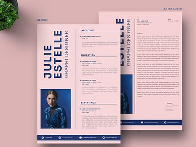 CV Resume & Letter Cover design illustration resume template branding logo motion graphics graphic design 3d animation resume design cv design cover letter resume cv template clean