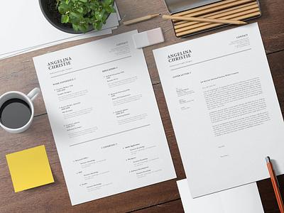Minimalist Resume branding motion graphics graphic design 3d animation logo illustration design resume template resume design cv design cover letter resume cv template clean