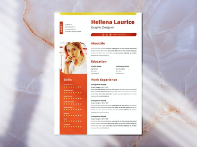 CV Resume Template design resume template motion graphics graphic design 3d animation resume design cv design cover letter resume cv template clean