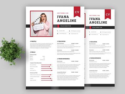 Clean Female Resume design resume template resume design cv design cover letter resume cv template clean branding logo motion graphics graphic design 3d animation