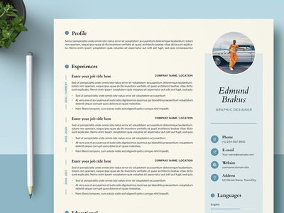 Resume Templates Dribbble