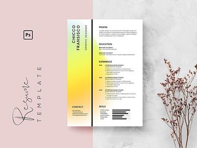 Professional CV Resume Template branding motion graphics graphic design 3d ui animation logo illustration design resume template resume design cv design cover letter resume cv template clean