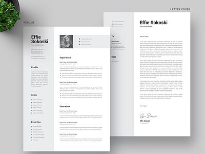 CV Resume Word Template branding motion graphics graphic design ui logo illustration design resume template resume design cv design cover letter resume cv template clean