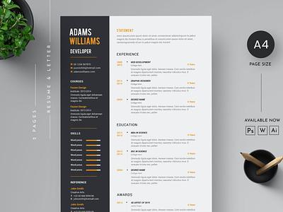 Resume Template resume cv job cv job illustration design resume design branding logo motion graphics graphic design 3d animation ui cv design cover letter cv template clean resume template resume