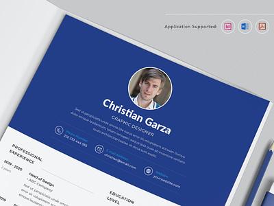 CV Resume branding motion graphics graphic design 3d animation ui logo illustration design resume template resume design cv design cover letter resume cv template clean