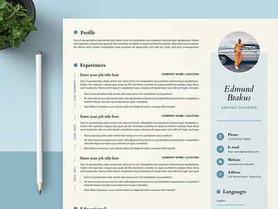 Cv Resume Template word cv simple modern minimal work doc word job cv professional job professional cv professional illustration design resume template resume design cv design cover letter resume cv template clean