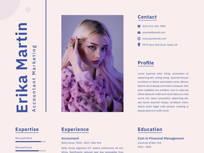 Accountant Marketing design resume template resume design cv design cover letter resume cv template clean doc word job professional clean professional cv professional resume word word template cv resume marketing cv marketing accountant