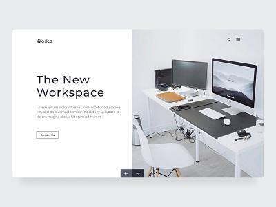 Workspace landing page design work uiux designer ui ux web web ui graphic design clean ui ux website clean website clean design web uiux design landing page ui workspace