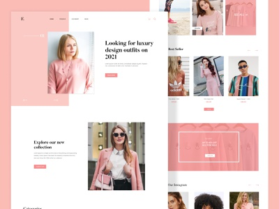 Fashion E-Commerce Website uiux branding graphic design clean design clean website clean minimal webui ux ui web template web design webflix home landingpage web fashion website