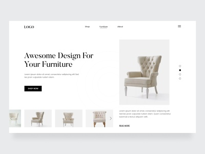 Furniture Shop Website Header shop website design furniture design webflix minimalist web design uiux dribbble best shot best website clean design graphic design landing page clean website minimal landingpage web website furniture