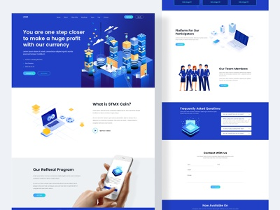 Cryptocurrency Website and landing page landing page design website builder webflix ux design clean ui best website ux graphic design landing page clean design clean website websites website concept website design cryptocurrency app cryptocurrency landingpage website