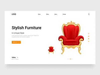Furniture homepage header 2021 popular art website design clean ui web design interior webflix ux ui shop read clean minimal web header home homepage furniture website