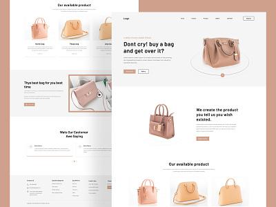 Bag Store Website Design design web popular dribbble web design webflix agency uiux clean minimal website ui ux ui landingpage bag website