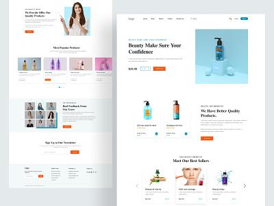Beauty products Web Concept product design beauty website oil webflix best website web design minimal clean website ux ui agency ecommerce girls product website web popular product beauty website
