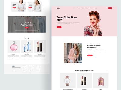 E commerce Landing page shop dribbble website concept webflix landing page graphic design clean design minimal clean website ux ui web ui header landingpage ecommerce website design website