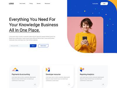 Web Design: Landing Page - SaaS designer home page best design blue minimal website web page business agency landingpage saas design uiux clean website ux ui minimal web website