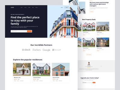 Property agency landing page design app free real estate web design building landingpage modern property house house rent uiux clean website ui ux minimal web website